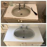 AZ Clean Repair bathroom sink top replacement photos before and after 10.19 1.