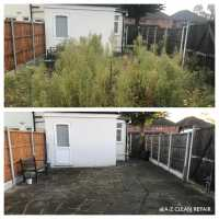 A-Z Clean Repair - Patio tidy up- photos before and after. (1)